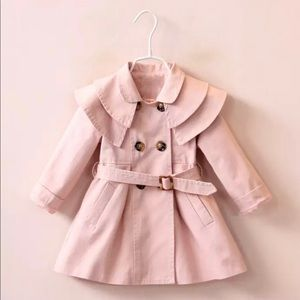 Adorable spring pink pea coat.